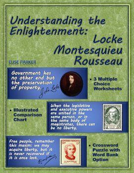 Enlightenment Worksheets And Puzzle Locke Montesquieu Rousseau