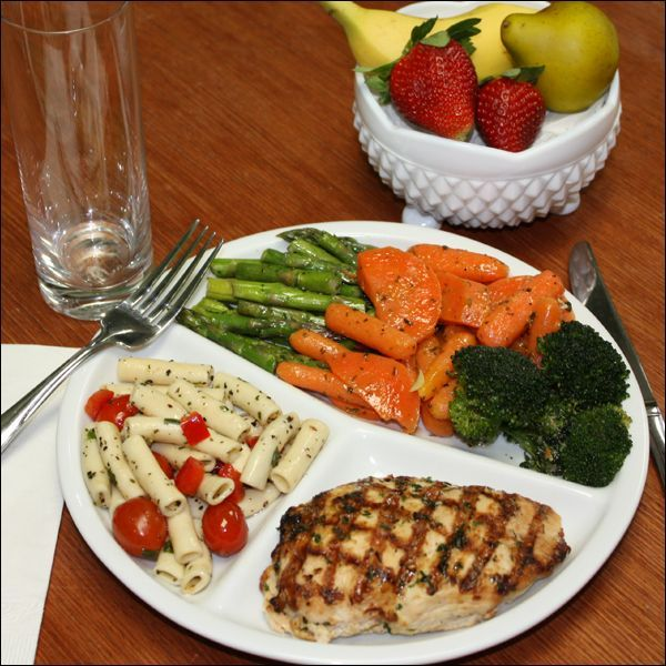 Healthy eating in college this plate of food just looks scrumptious 3 this is also a great example of how to portion your food veggies at the top big portion and meatstar...