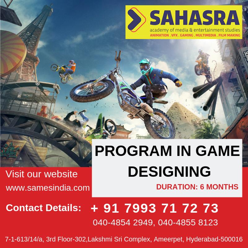 Sahasra Academy of Media & Entertainment Studies offers