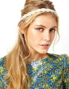 ASOS | ASOS Plaited Faux Pearl Headband at ASOS