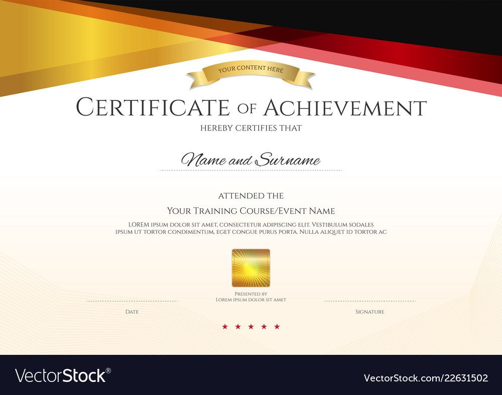 Modern Certificate Template With Elegant Border For High Resolution Certificate Tem In 2020 Certificate Templates Certificate Of Achievement Template Business Template