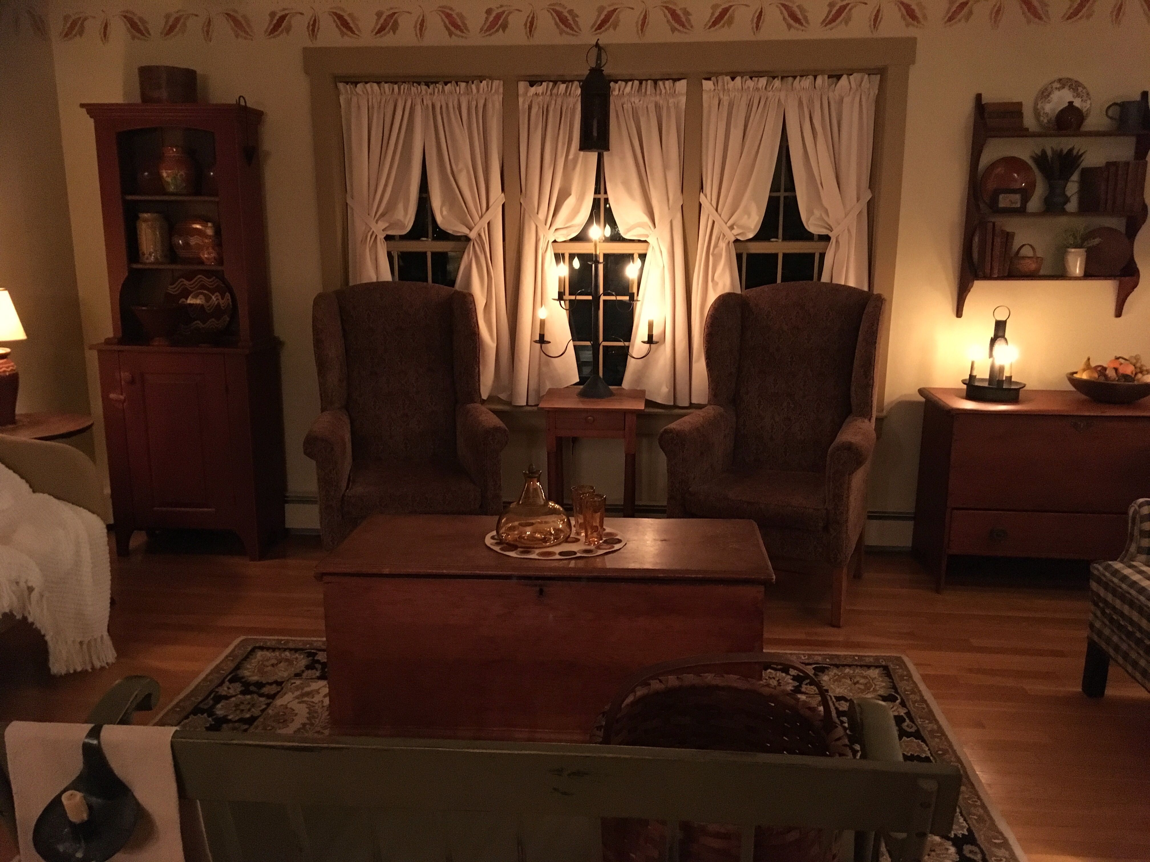 Winter 2017-2018 Behind My Red Door (With images ... on Farmhouse Curtain Ideas For Living Room  id=79171