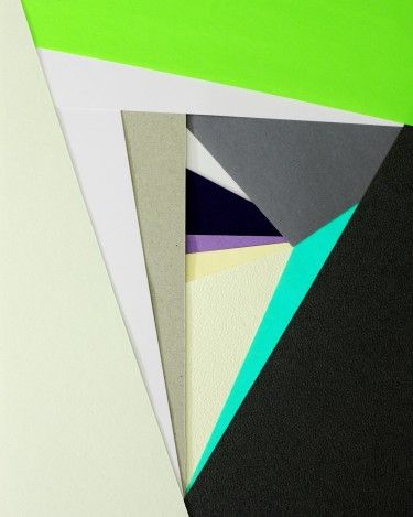 abstract paper collage by carl kleiner