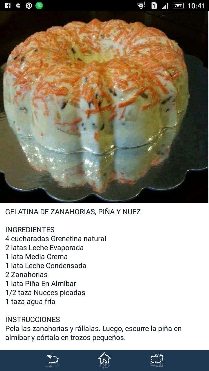 Gelatina De Zanahoria Pina Y Nuez Recetas Deliciosas Gelatina De Zanahoria Y Pina Gelatina De Zanahoria Prueba la gelatina de zanahoria rallada y piña. pinterest