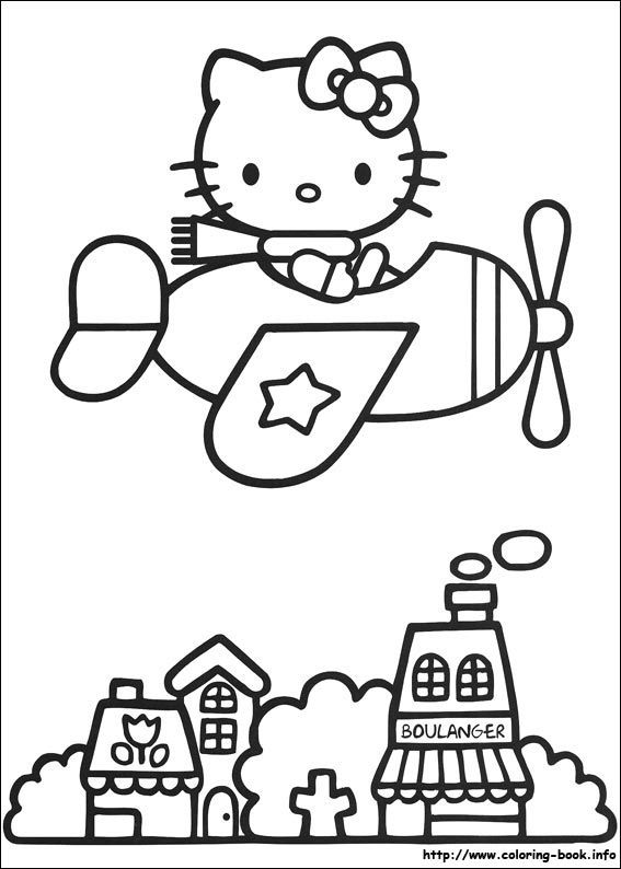 Hello Kitty coloring pages and coloring sheets Hello Kitty Coloing - new coloring pages with hello kitty