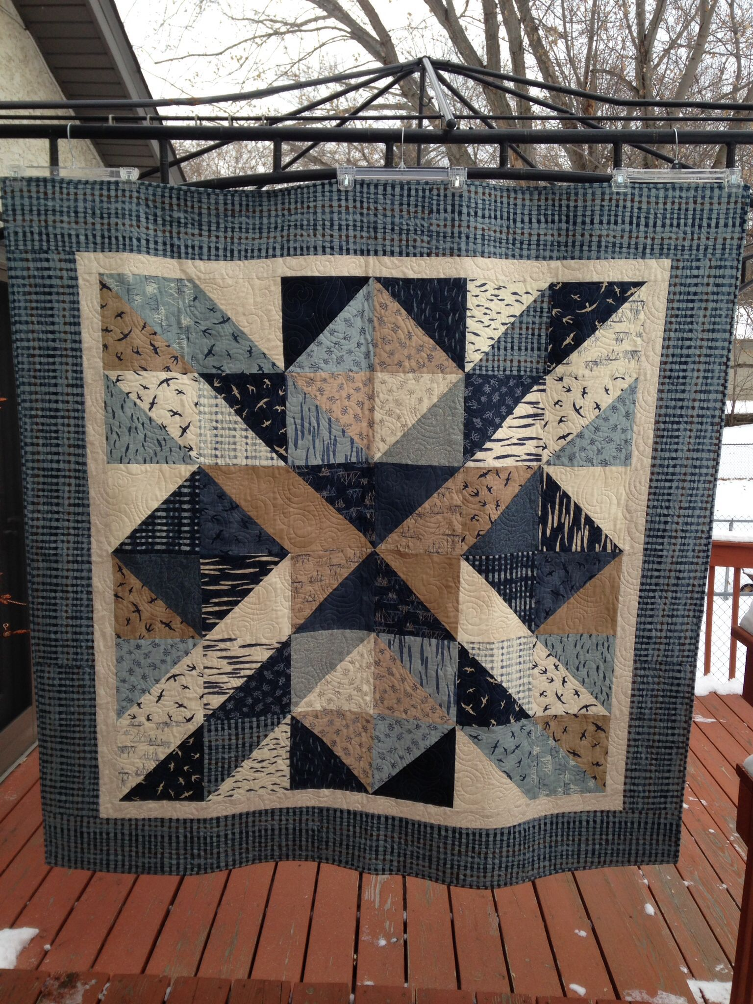 Pattern From Big Block Quilts Fabric Is Moda S Hearty