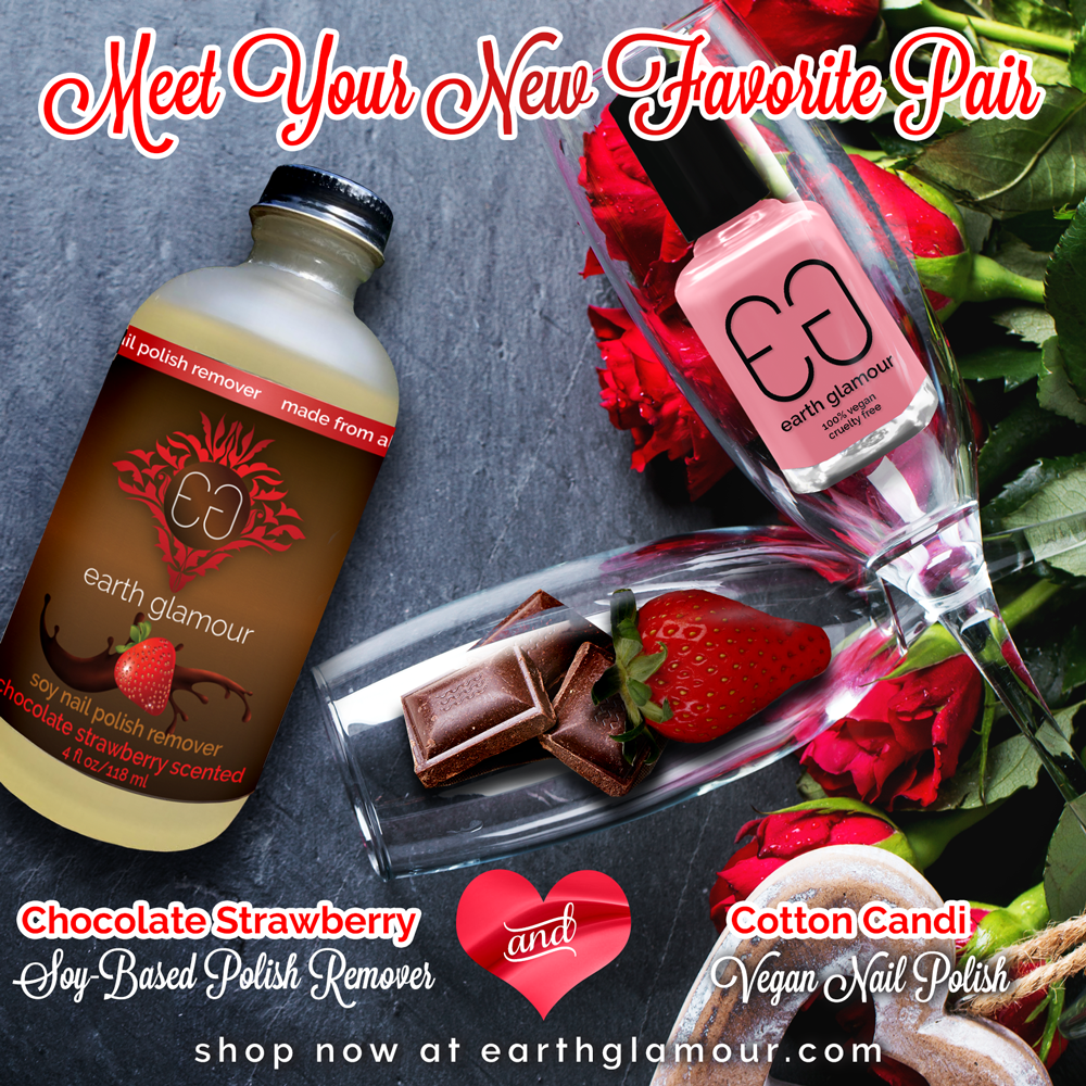 Sweet Scented Chocolate Strawberry Soy Nail Polish remover
