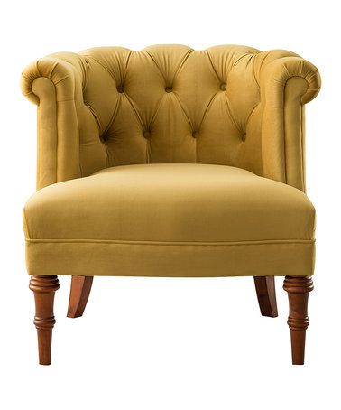 Sensational Another Great Find On Zulily Gold Katherine Tufted Accent Creativecarmelina Interior Chair Design Creativecarmelinacom