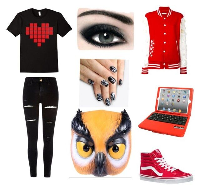 """""""Vanoss"""" by masyn-fillner ❤ liked on Polyvore featuring River Island, NIGHTMARKET, Max Factor, alfa.K, Vans and Natico"""