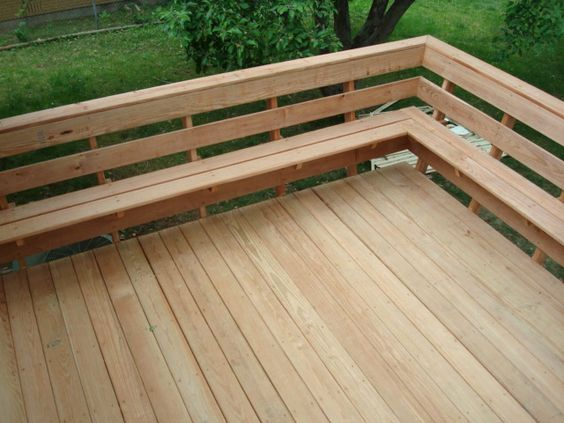 Decks With Bench As Railing Evergrain Deck Rail W 4 Sq Wire