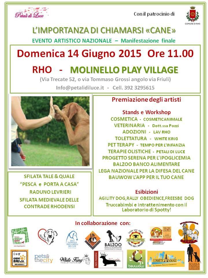 14/6 L'importanza di chiamarsi #cane - #evento artistico nazionale. Sarà presente anche la #LegadelCane di #Varese