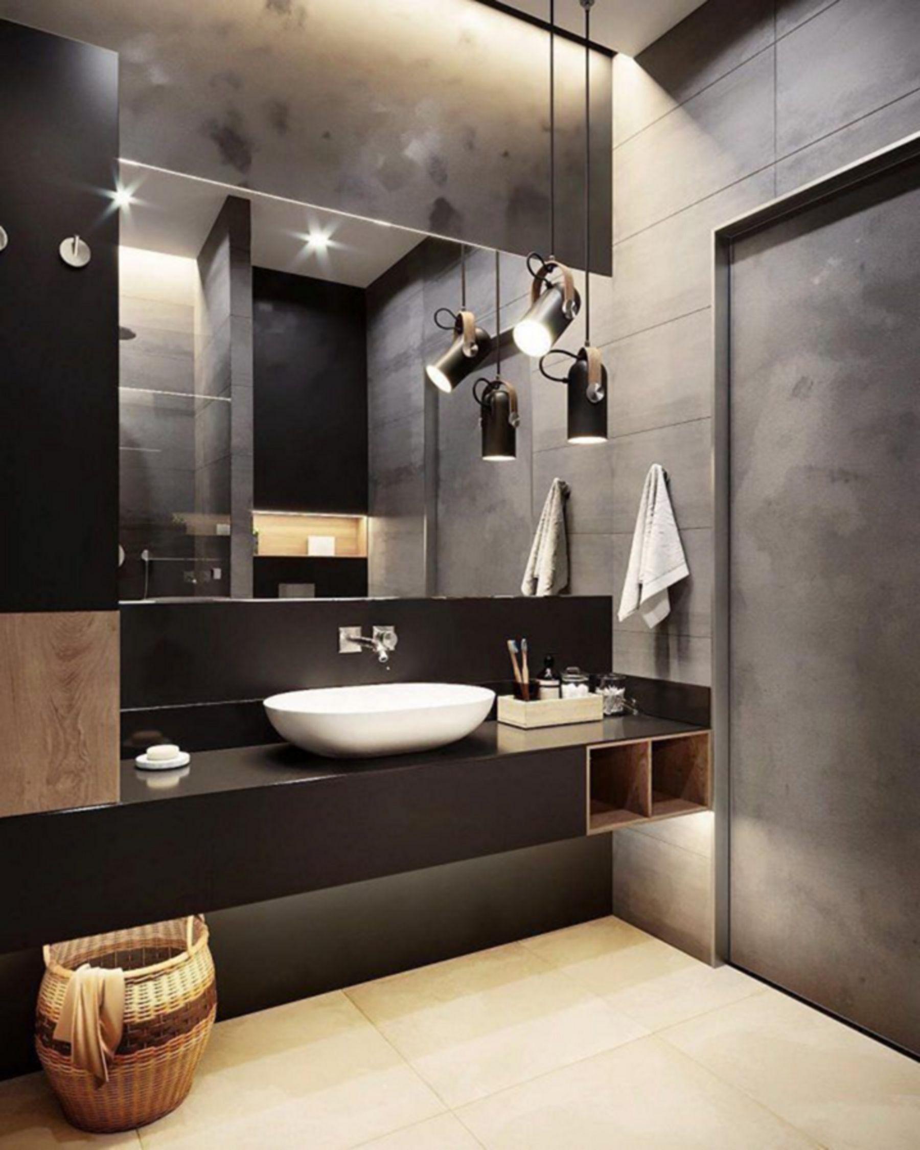 10 Simple Industrial Bathroom Design Ideas That Will Make Your Bathroom Impression Lux In 2020 Bathroom Interior Design Industrial Bathroom Design Minimalist Bathroom