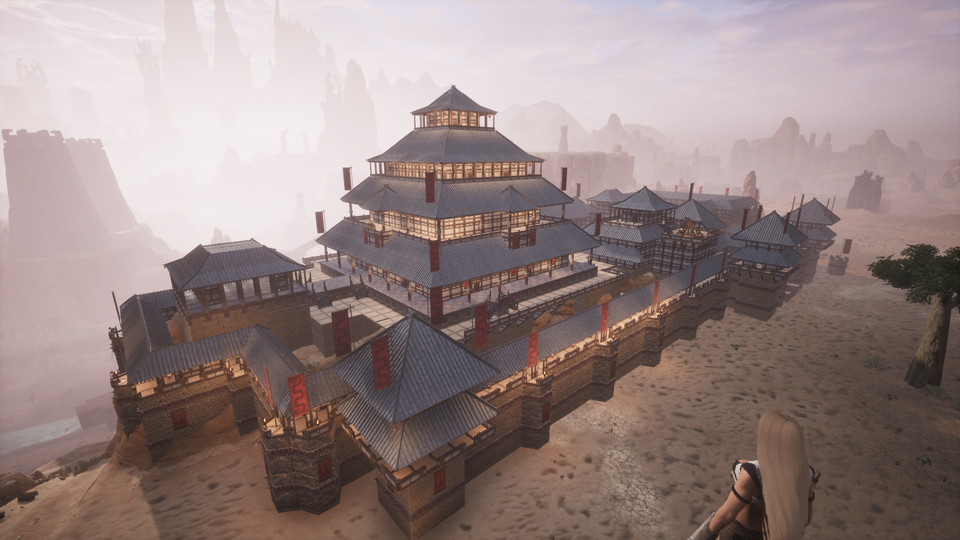 Hi Guys I D Like To Share The Base I Ve Been Building For The Past Week Conanexiles Conan Exiles Building No Man S Sky