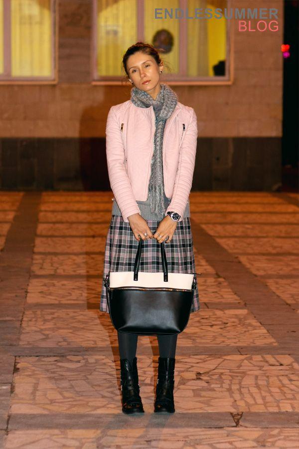 New #OOTD post on the blog feat. Style Moi biker jacket in pastel pink ♥ В блоге новый лук с участием байкерской куртки #stylemoi пастельного розового оттенка