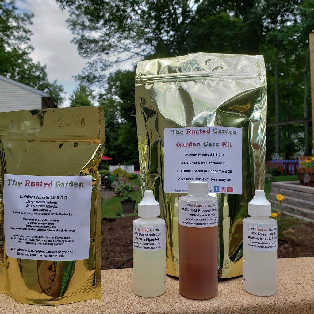 Garden Care Kit** 4 Oz Neem Oil, Peppermint Oil, Rosemary