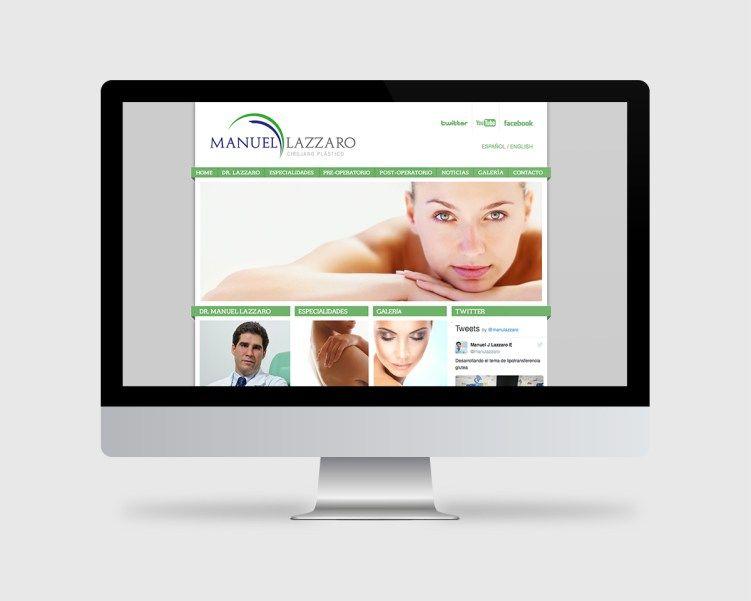 Doctor Manuel Lazzaro plastic surgeon. Branding + logo + web design. Click to see more!