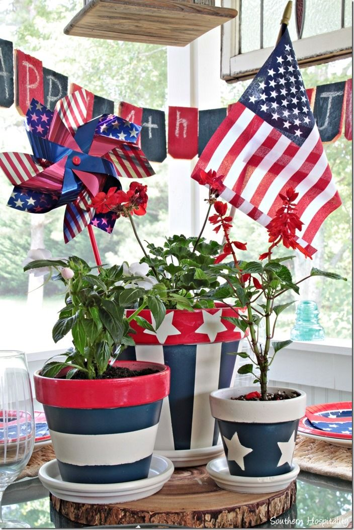 Patriotic tablescape red white and blue. 4th of July decor. #Lowescreator