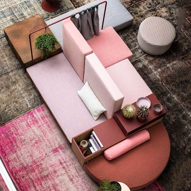 We're very inspired by this island sofa arrangement from  @morosofficial Not forgetting the smart rug action too! #EDloves the patchworking effect. Cool but cosy.  .  .  .  #colour #texture #trends #trendbulletin #homeinspiration #thehappyhome #pattern #palette #moodboard #modernhomes #wellbeing #interiors #decorating #interiorsobsessed #homedecortrends