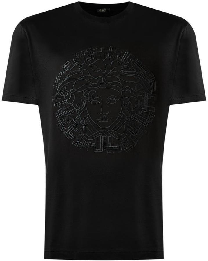 ff1d1c4c4c Versace Medusa embroidered T-shirt | versace t shirt in 2019 ...