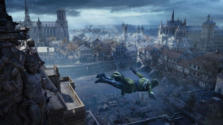 Assassins Creed Unity Game Jump Wallpaper Hd 1920 1080