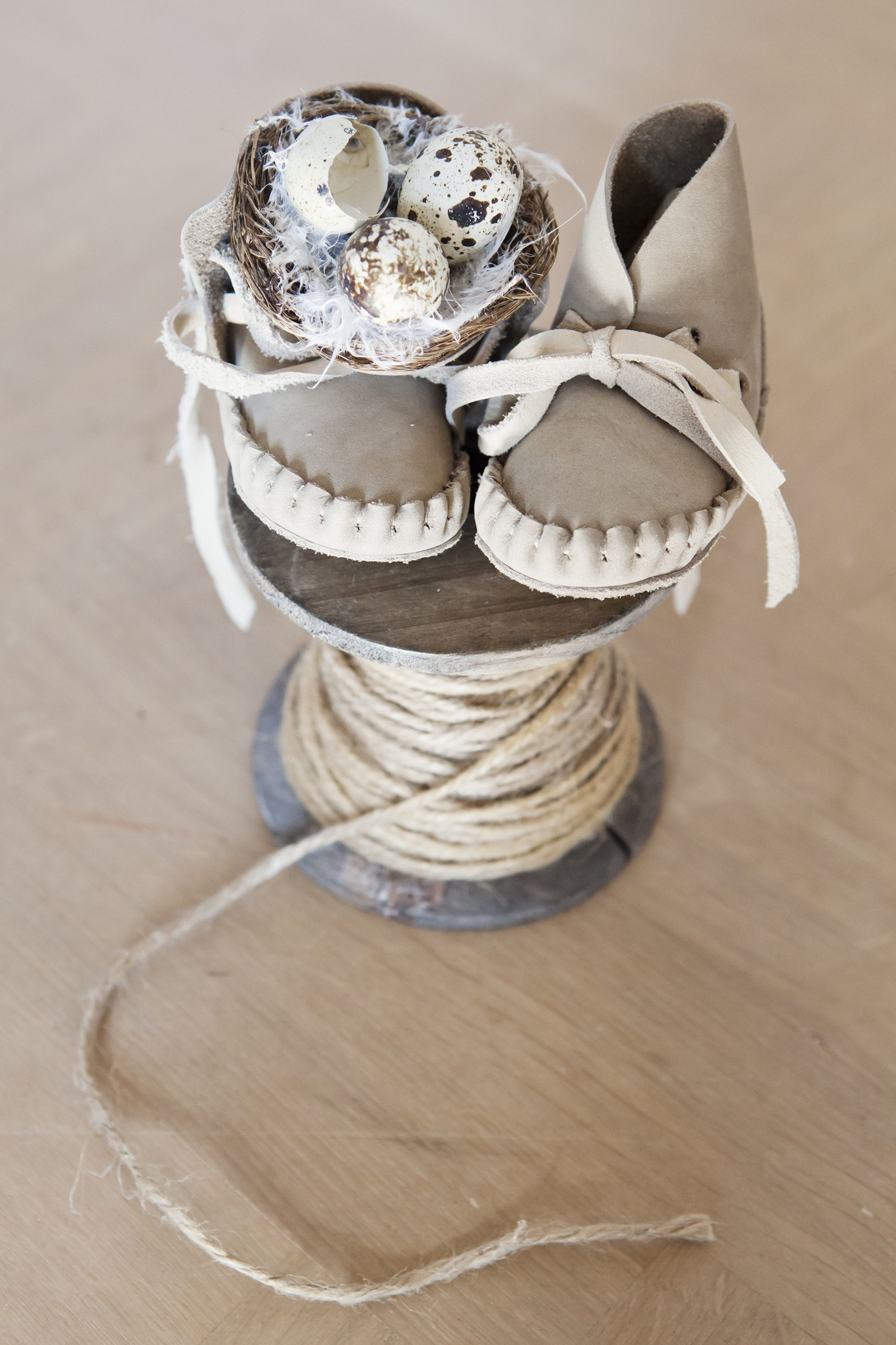 Pina Taupe booties by Donsje. Hand made with lots of love. The perfect  booties c58b3e3060