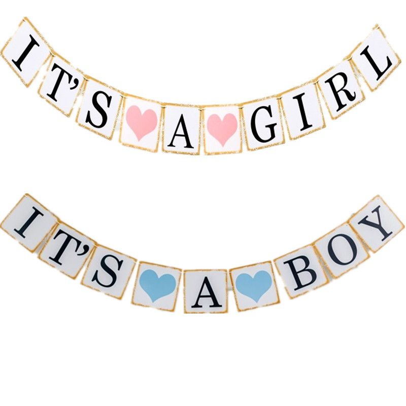 Baby Boy Bunting Garland Banner Baby Shower Party Hanging Decoration