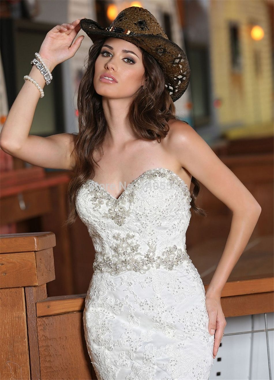 Applique wedding dress new arrival mermaid sheer crystals lace