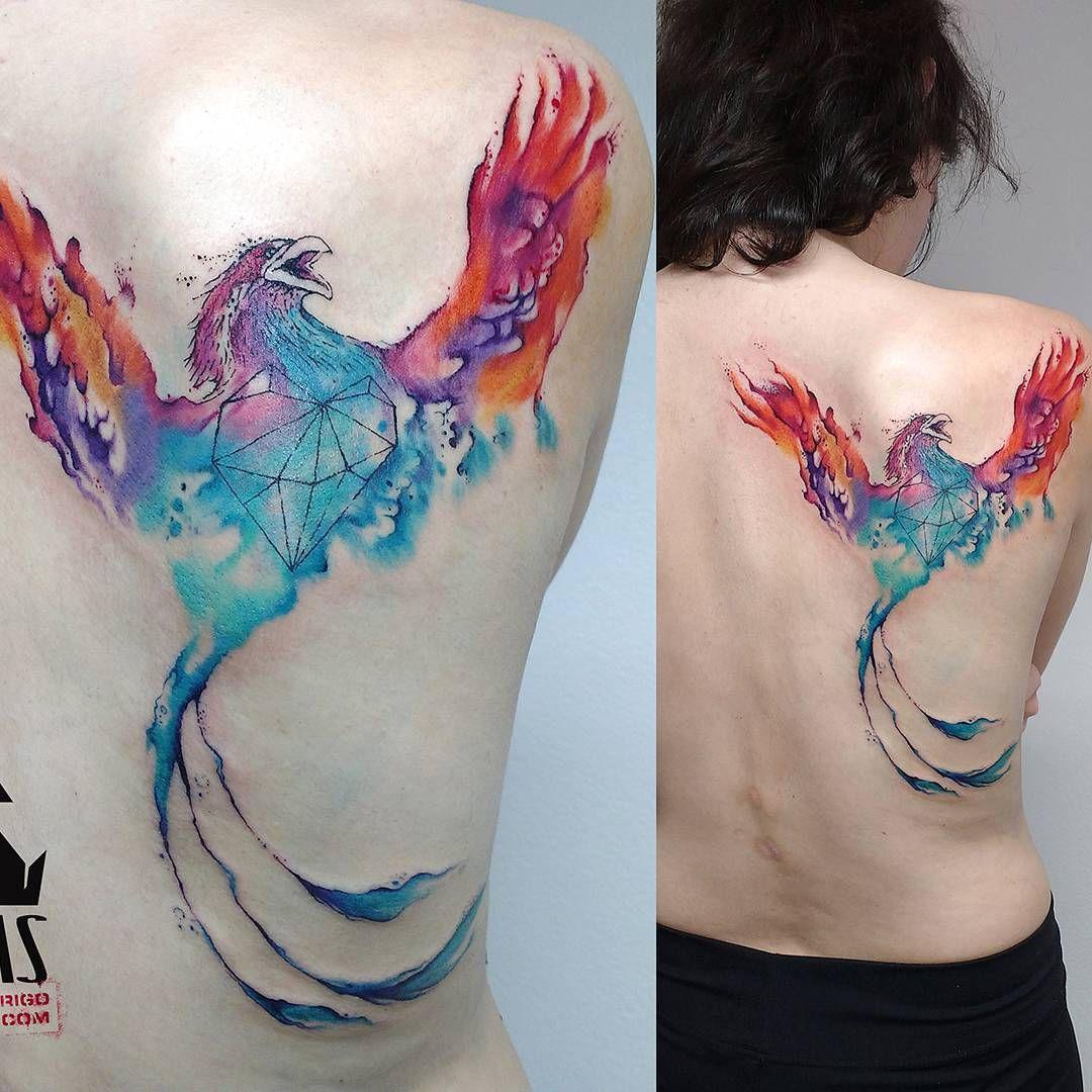 Watercolor Phoenix Tattoo Artist Rodrigo Tas Tattoo Artist Watercolor Phoenix Tattoo Phoenix Tattoo Tattoo Artists