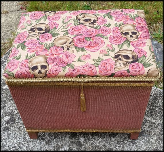 Vintage Loom Style Storage Blanket Box Re Styled by SirDandylion