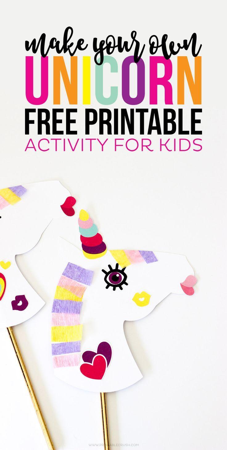 Make Your Own Unicorn FREE Printable Activity | Pinterest | Free ...