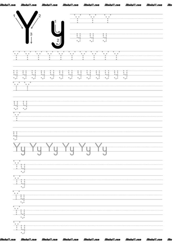 Thumbnail Of Y Preschool Writing Alphabet Worksheets Preschool Tracing Worksheets Preschool