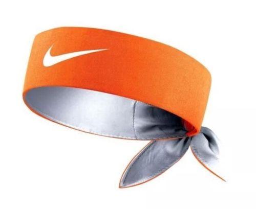 New-NIKE-Tennis-Headband-Short-Head-Tie-646191-803-Orange  8c49cfa4e24