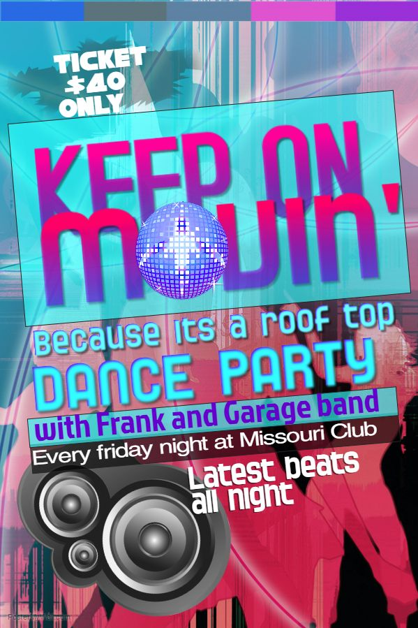 dance party flyer template click on the image to customize on