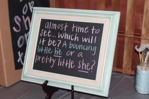 Gender reveal party by laurie