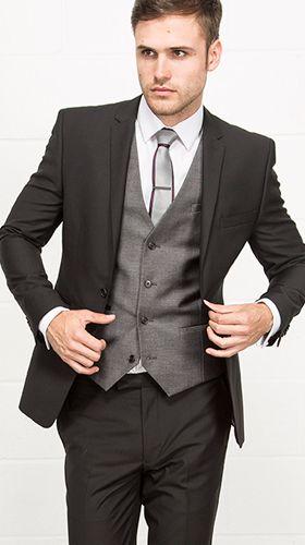 Lambretta Two Piece Slim Fit Black Suit // Slater Menwear AW15 ...