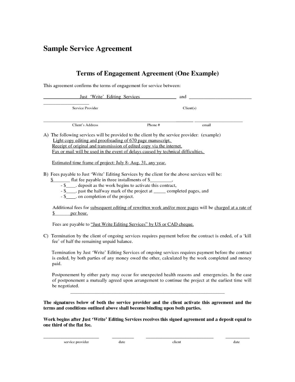 Template Ideasice Agreement Form Free Contract Us Sample Simple In Pre Contract De Contract Template Wedding Photography Contract Template Photography Contract
