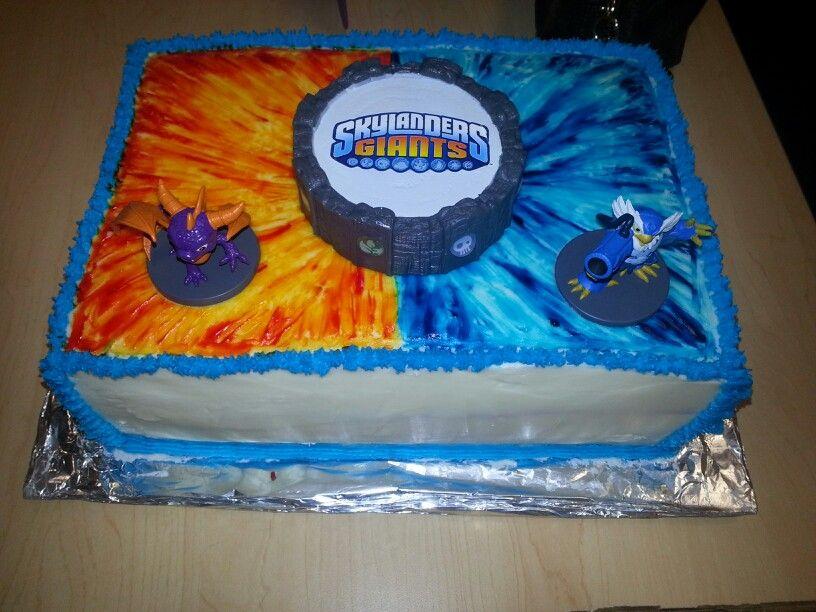 Skylander Cake Made By Dean Drago Skylanders Birthday Cakes