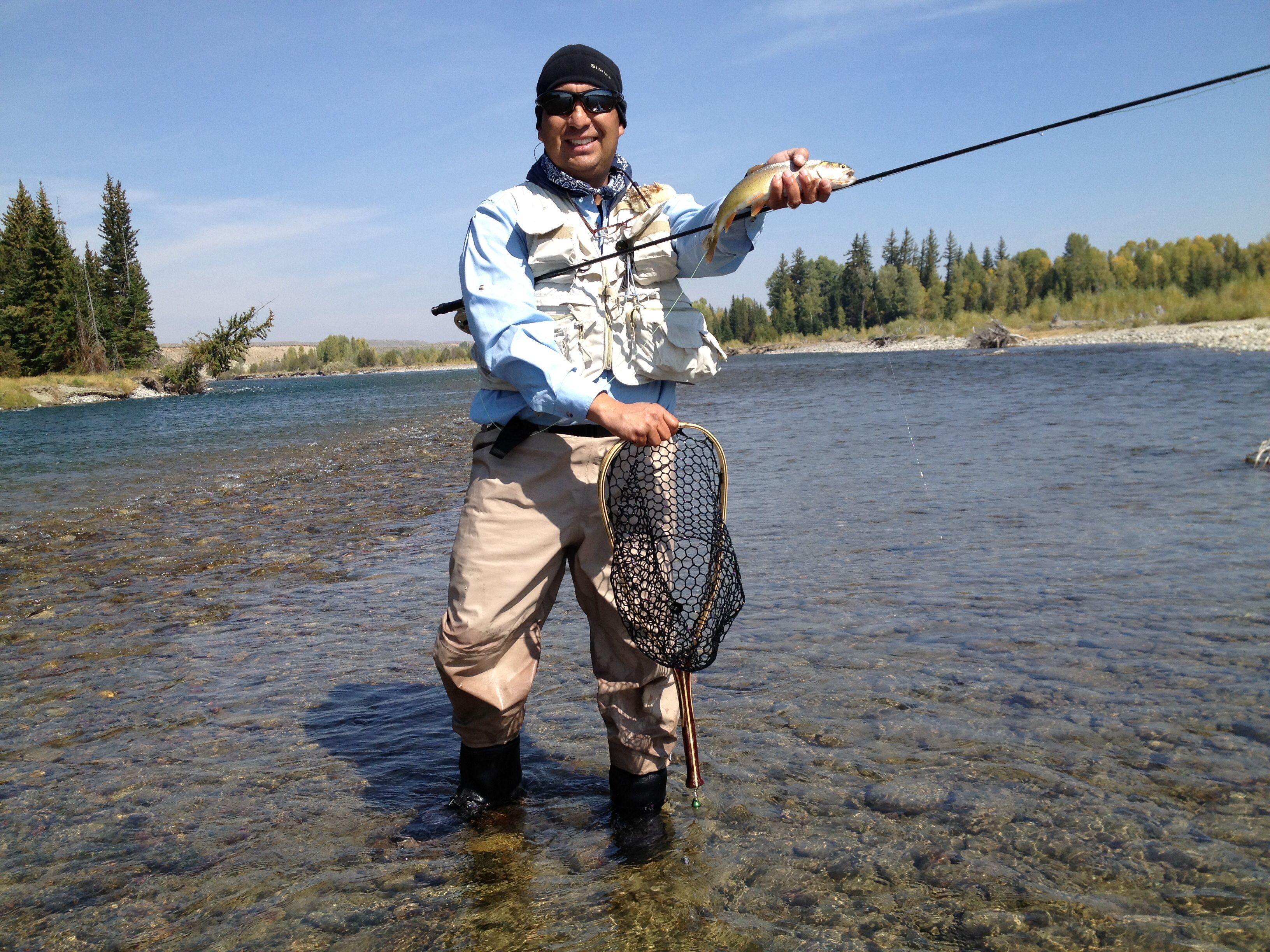 Snake River Cuttie At My Secret Spot Outside Jackson Wy Fly Fishing Jackson Trout