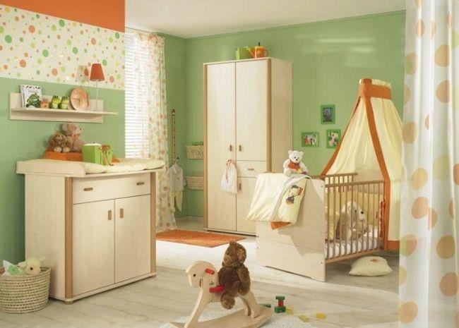 Lovely Grün Orange Hellholz Wohnideen Babyzimmer Neutrale Designs