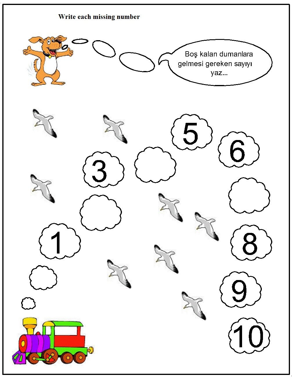 Missing Number Worksheet For Kids 1 10 Crafts And Worksheets For