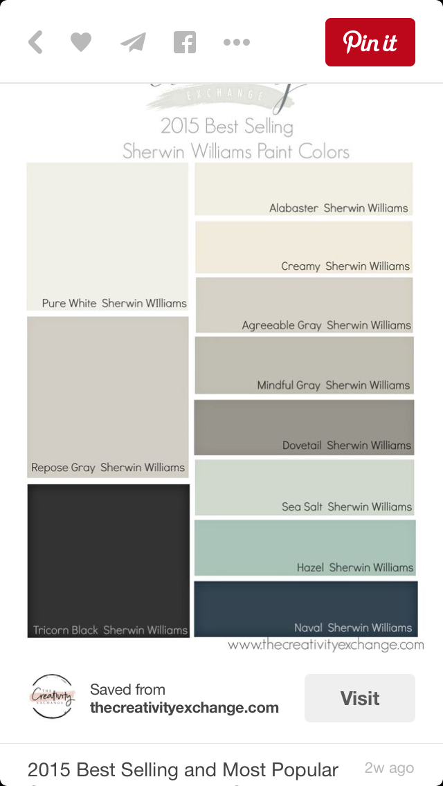 Pin by alicia kayga on kitchen pinterest house Most popular sherwin williams colors 2015