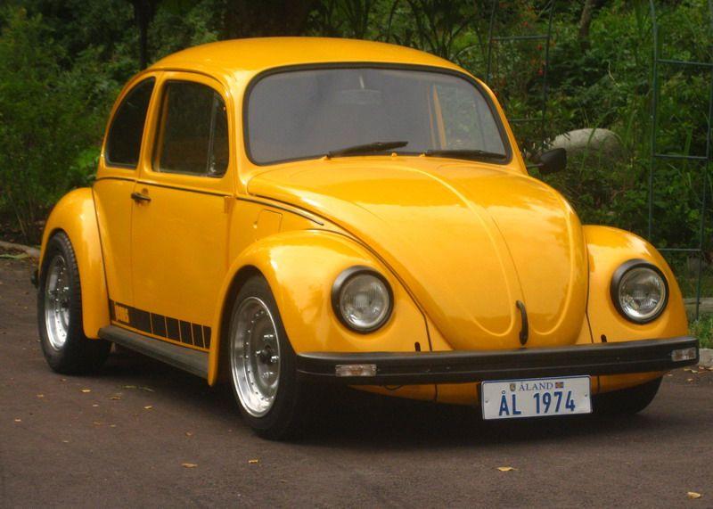 #VW Beetle jeans yellow