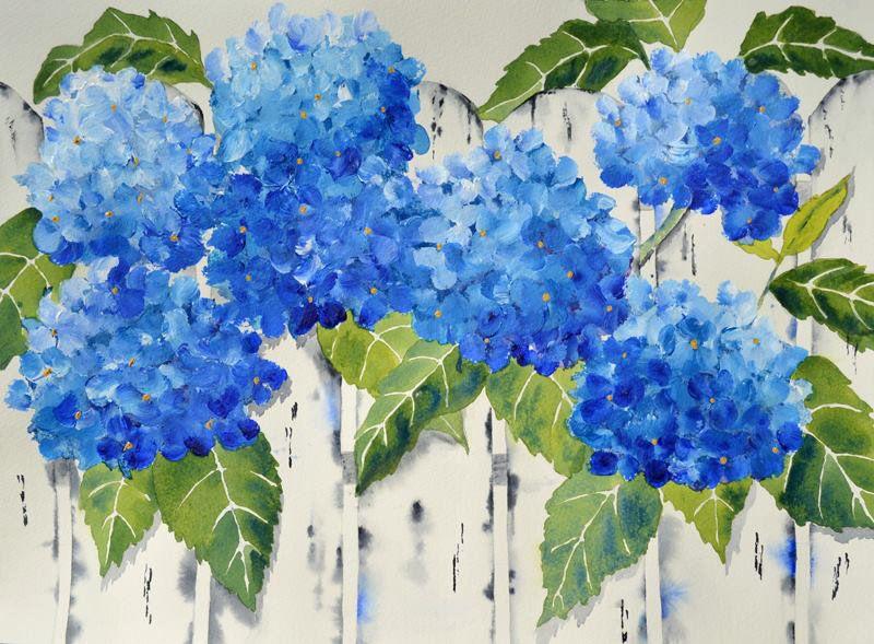 Hydrangea Flower Blue Hydrangeas Blue Flower Painting Etsy In 2020 Hydrangea Painting Blue Flower Painting Blue Flower Art