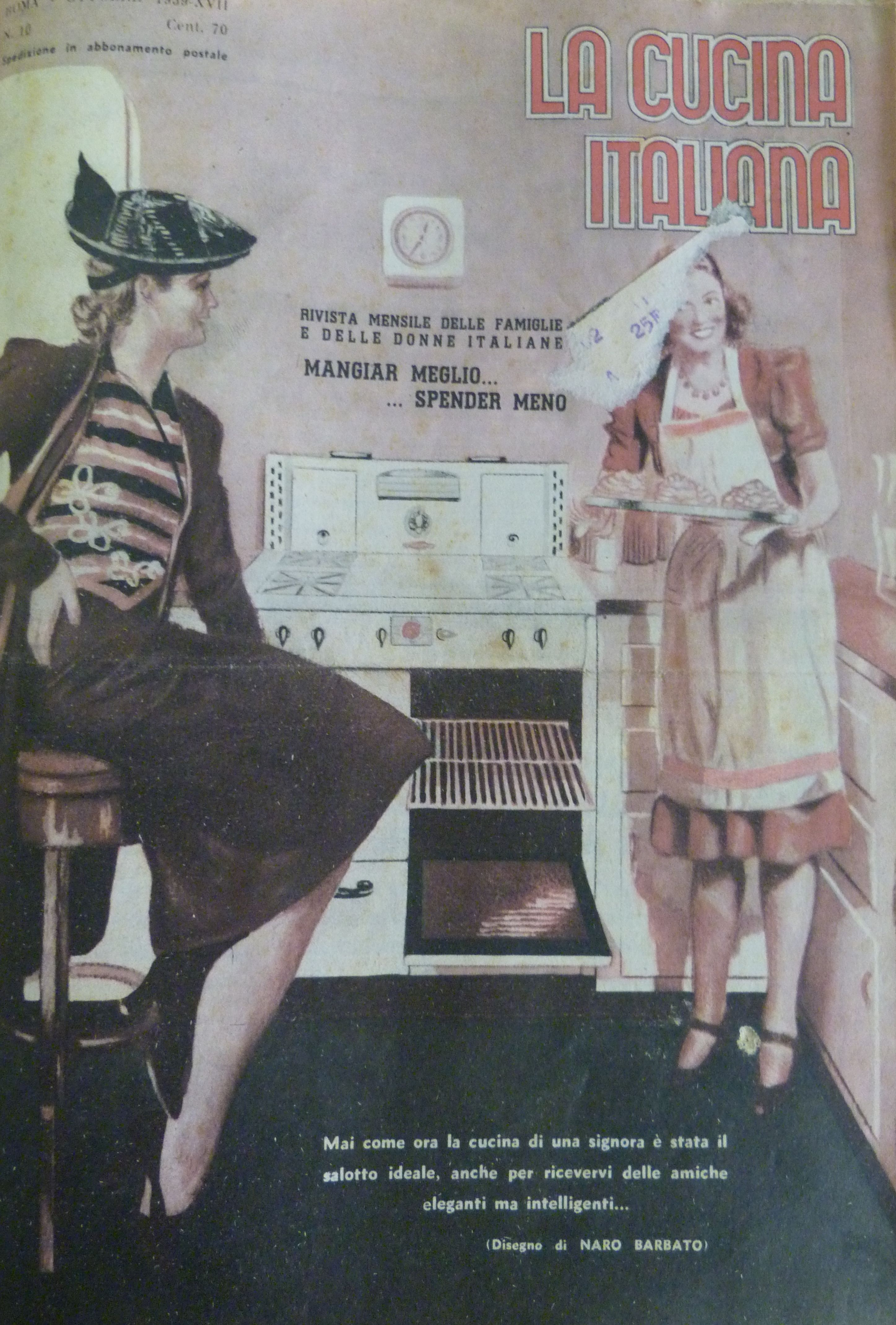 1939 cooking entertainment recipe cucina cucina for La cucina italiana