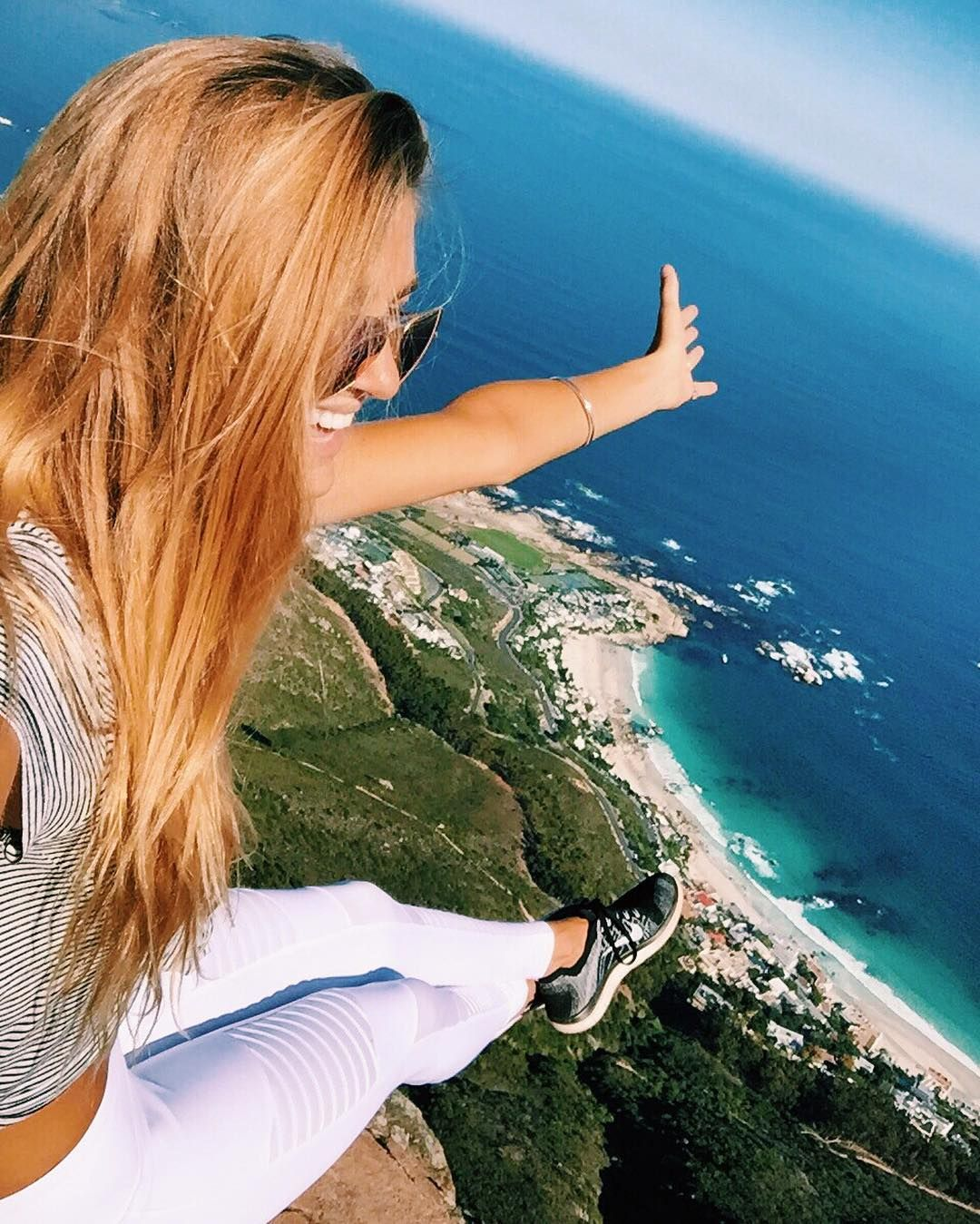 Made it to the top!!  hiked Lions Head rock.. In white pants.. It was a bad choice but i'm not angry regardless!  not with THIS view!  @thewild.collective by sjanaelise