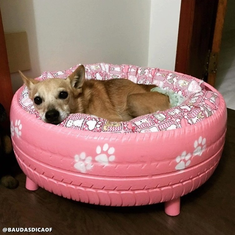 Dog beds from recyclable materials. Save the and