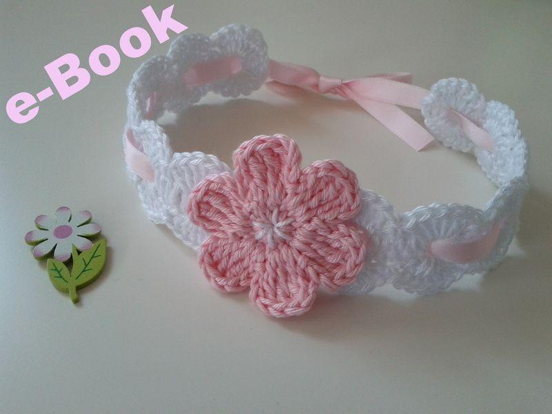 Häkelanleitung Baby-Haarband Satin/e-Book PDF | Häkelanleitung baby ...