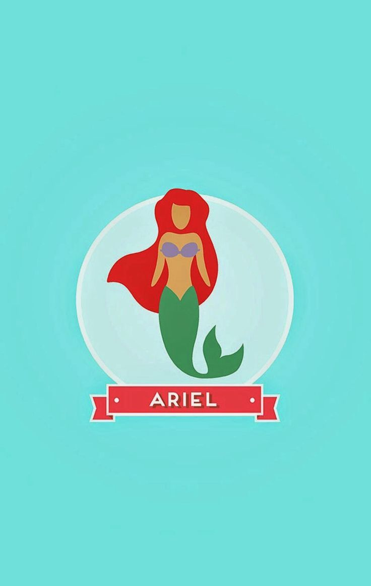 Ariel Disney Find More Minimalistic IPhone Android Wallpapers And Backgrounds At Prettywallpaper