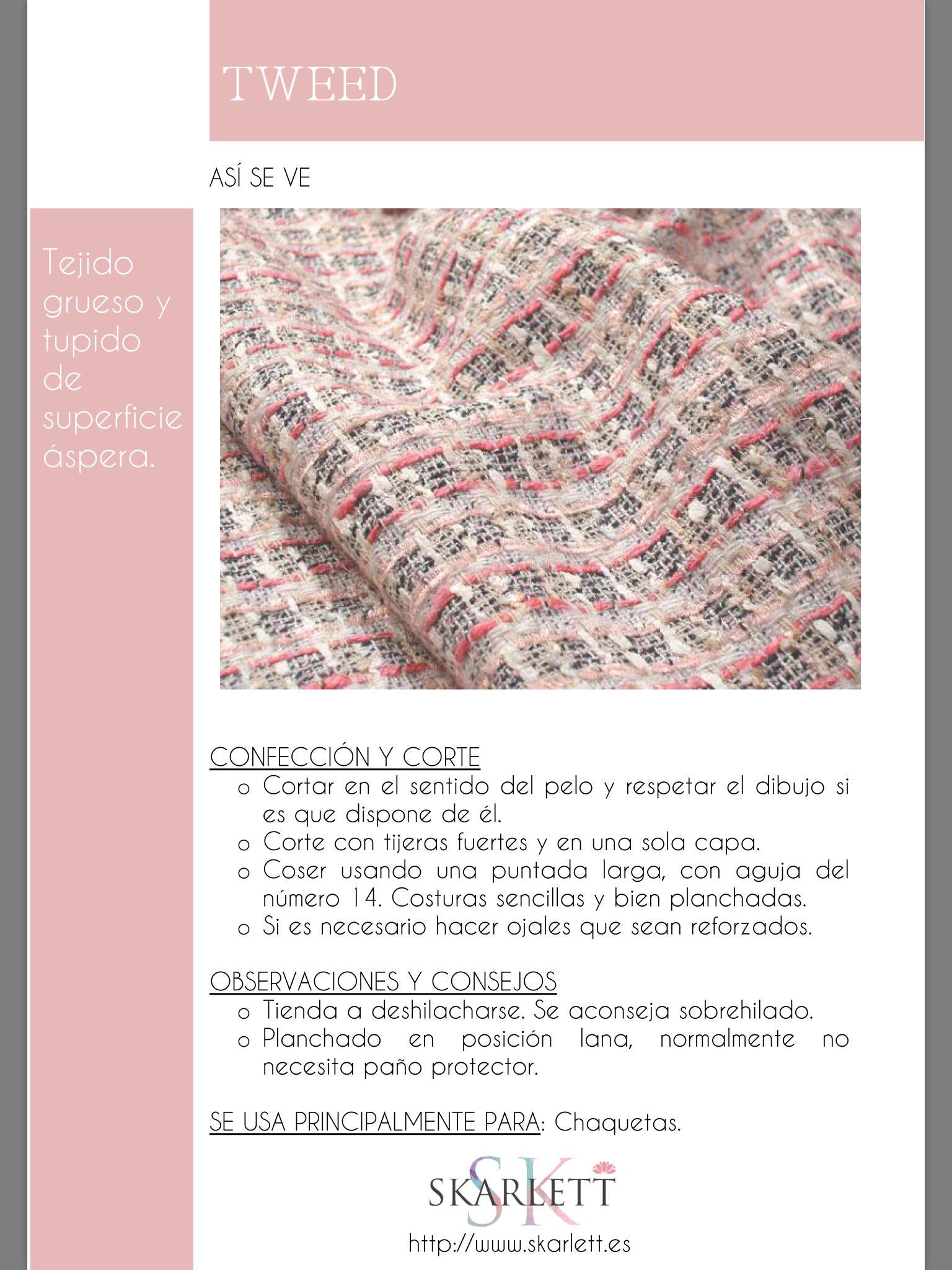 El dossier de las telas Skarlett | telas | Pinterest | Tela, Costura ...