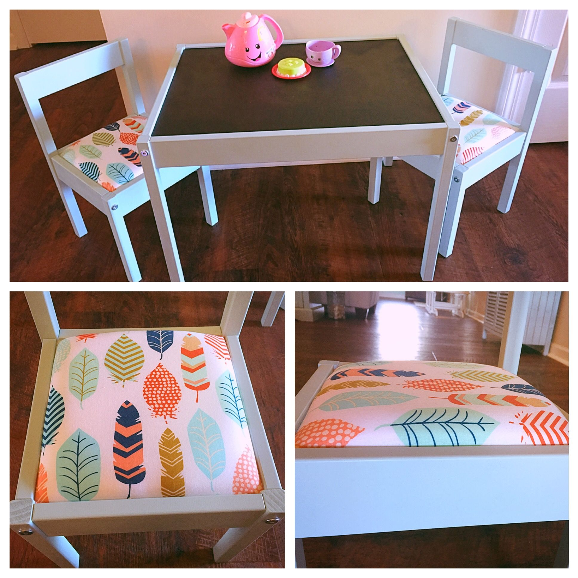 lÄtt children's table and 2 chairs  white, pine in 2020